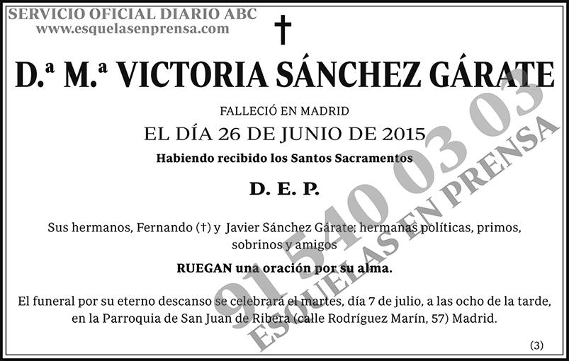 M.ª Victoria Sánchez Gárate